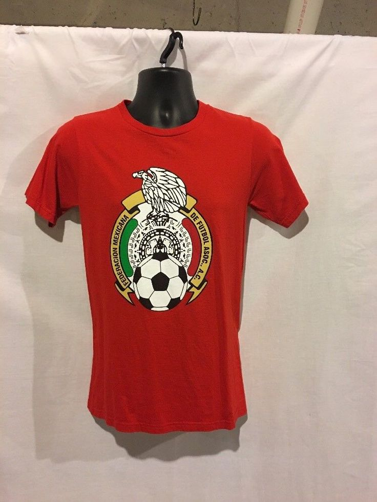Adidas The Go-To Red Womens T Shirt Federacion Mexicana De Futbol Size Small  | eBay
