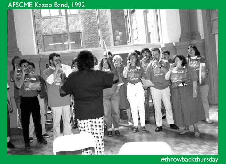 Never forget the @afscme Kazoo Band of 1992!