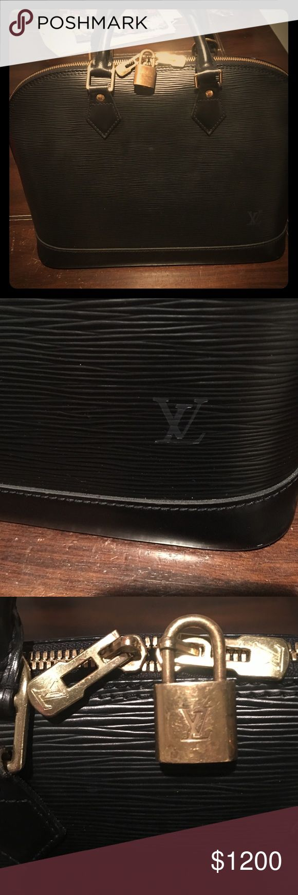 Black LV Alma PM 🖤 Just received in another amazing trade 💕 it's in beautifully perfect condition! Sells on the Louie Vuitton website for $2,120 before tax. Comes with lock but no key. Only available for selective trades, because I love this 😍 Louis Vuitton Bags