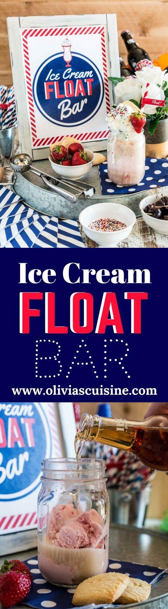 Ice Cream Float Bar