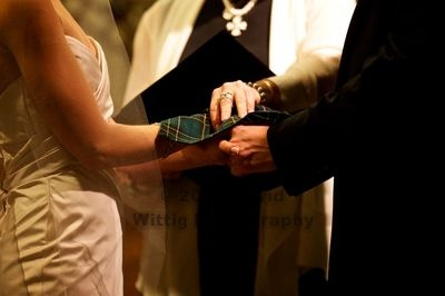 handfasting, Scottish wedding tradition.