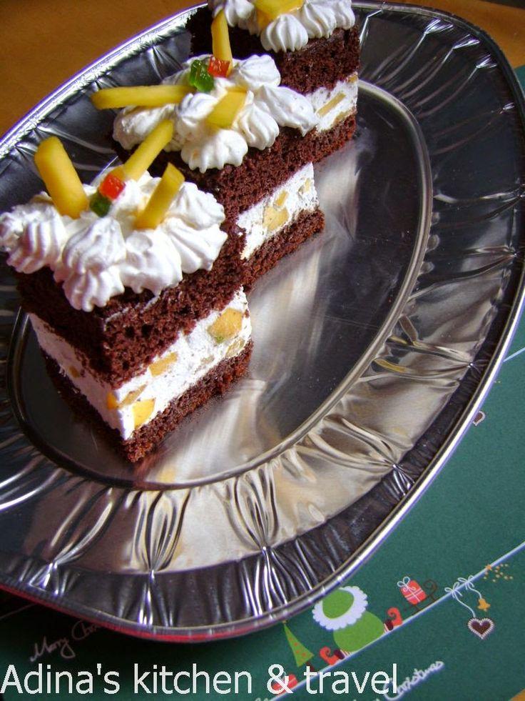 Adina's kitchen & travel: Prajitura cu branza ricotta,frisca si mango