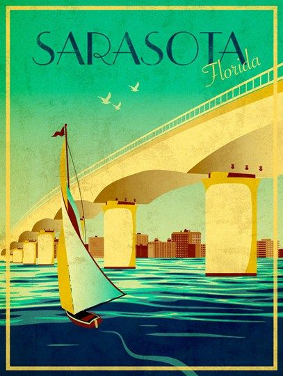 Poster for guest book? Sarasota Fine-Art Print by Stella Bradley at UrbanLoftArt.com