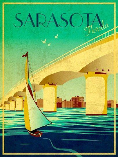 Poster for guest book? Sarasota Fine-Art Print by Stella Bradley at UrbanLoftArt.com
