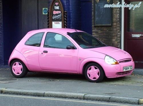 Pink ford ka, love it.
