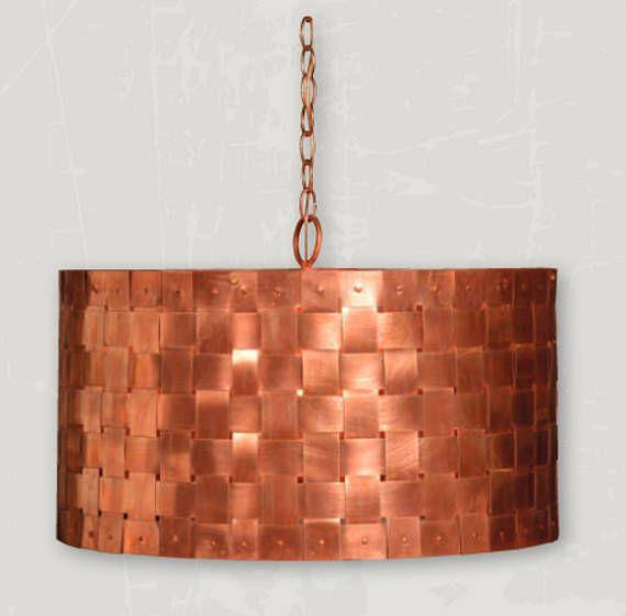 Copper Drum Chandelier Kitchen Island Pendant Light