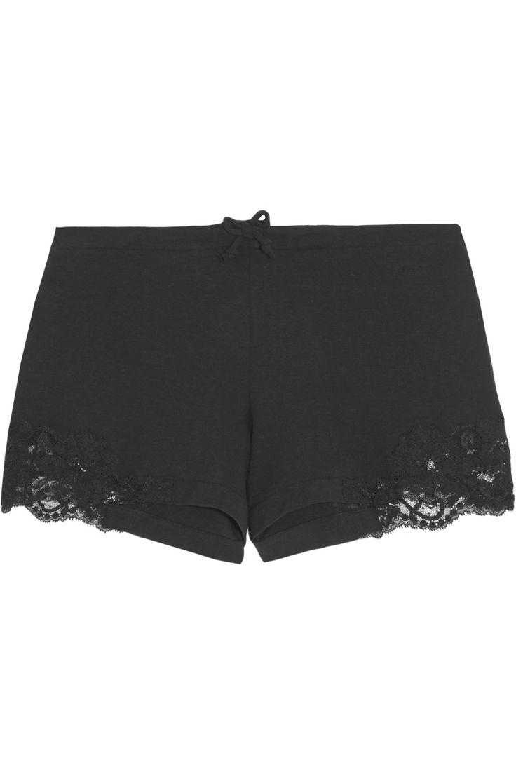 La Perla   Souple Pyjama-Shorts aus Jersey aus Stretch-Baumwolle mit Spitzenbesatz   NET-A-PORTER.COM
