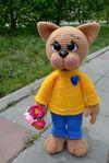 Мобильный LiveInternet вязаный кот Фёдор | Риоритта - Вязаные игрушки |