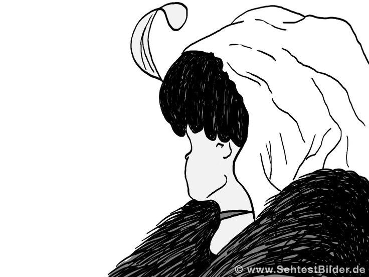junges Mädchen oder alte Hexe?