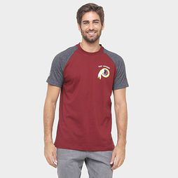 Camiseta New Era NFL Division Washington Redskins - Vermelho+Cinza