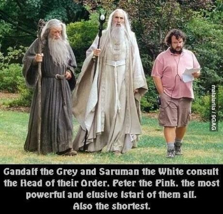 Always pegged Peter Jackson as a hobbit, but I can totally see him as a ridiculously powerful wizard, too.