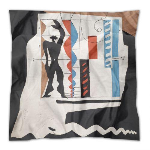 Le #foulard de #soie design #Modulor par Le Corbusier - Prix 134 euros TTC - En stock #LeCorbusier