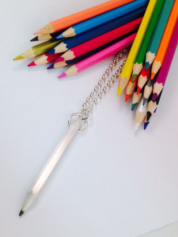 Solid Sterling Silver Pencil & Chain, ( 70cm, adjustable)