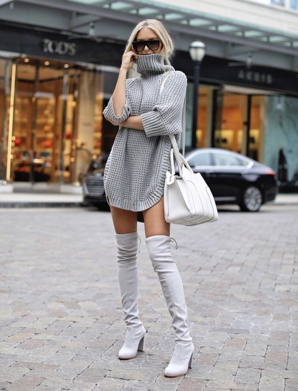 winter dress outfit casual sweaters