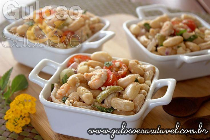 Receita de Salada de Feijão Branco com Camarão