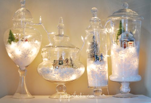 Not snow globes as such, but still really cool - and easy!