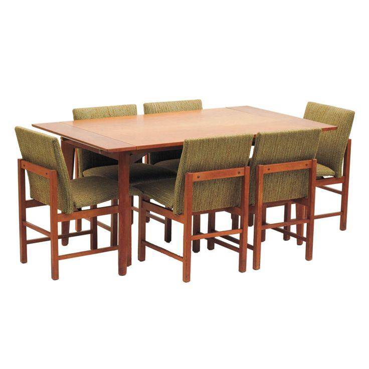 Set Of 6 Walnut Dining Chairs By Greta Grossman For Glenn California