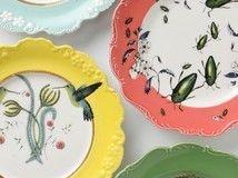 fun desert plates from anthrapologie