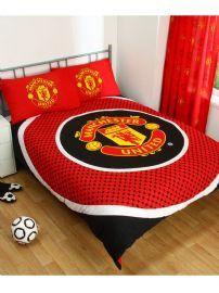 Manchester United FC Bullseye Double Reversible Duvet Cover Set #manutdduvet #manutdbedding