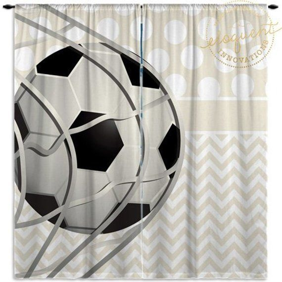 Soccer Ball Curtains Kids Window Curtain Panels Baby Girls