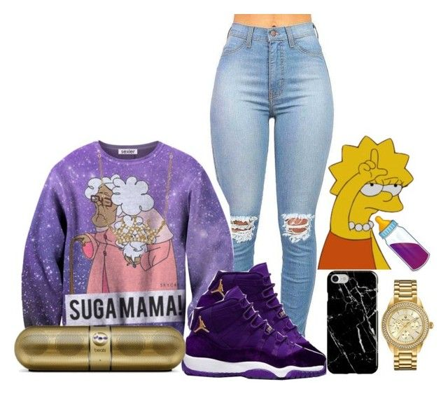 """""""Suga Mama"""" by asvpkateee ❤ liked on Polyvore featuring Recover, Lord & Taylor and Bulova"""