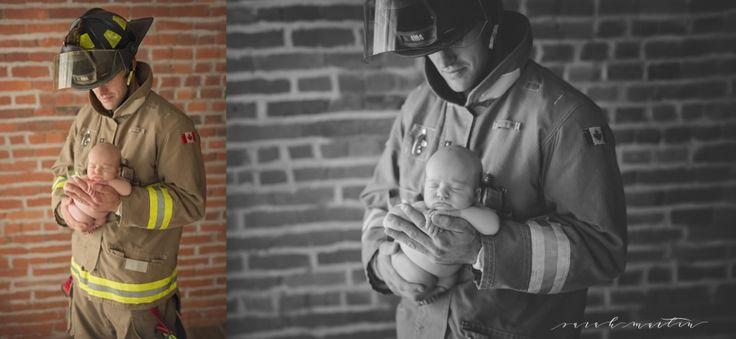 sarah martin photography_ firefighter newborn pose