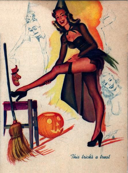 Vintage Halloween, Witch Pinup