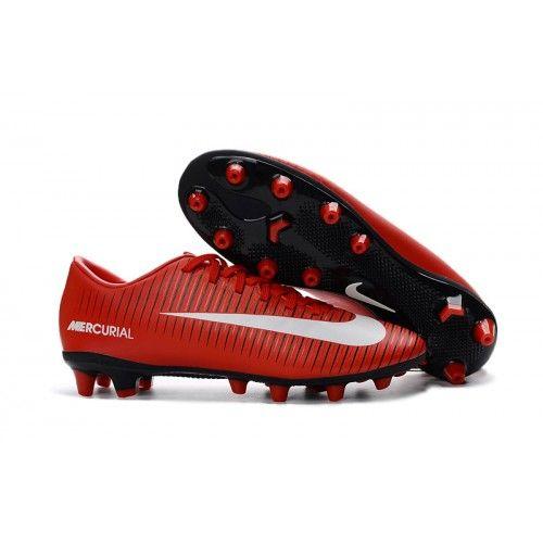 Nike Mercurial - Nike MERCURIAL VICTORY VI AG-PRO Mænd Fodboldstøvler - Rød  Hvid Sort 4dde504b1630