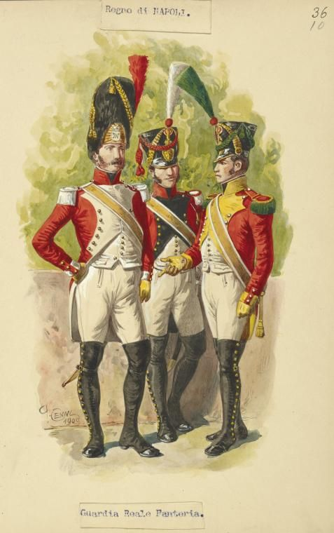 1809    Military Uniforms. Kingdom of the Two Sicilies, Italy.                                 suzilove.com