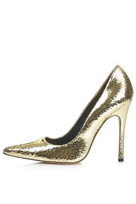 GALLOP Metallic Court Shoes - Xmas party season must have!