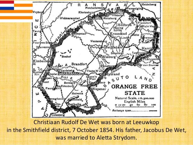 After the war, he returned to his father's farm, Nieuwejaarsfontein and he was later elected to the Orange Free State Volk...