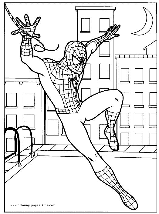 Spider man color page cartoon color pages printable cartoon coloring pages for kids to make your own printable cartoon color book sheets