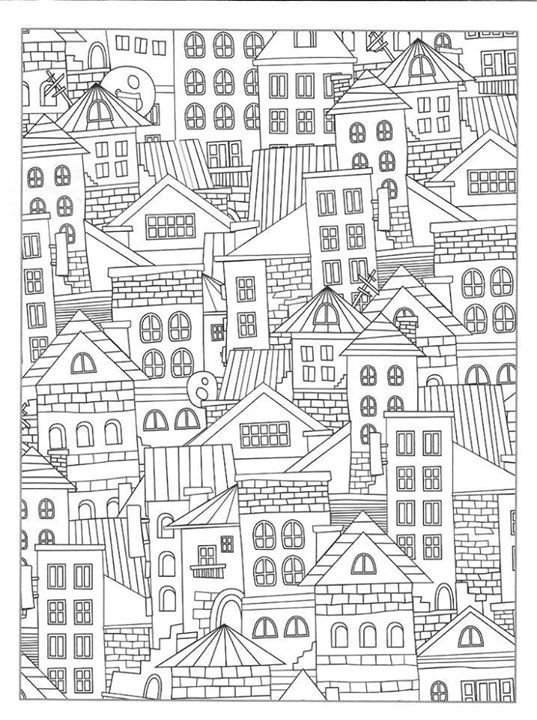 350 Best Architecture Coloring Pages For Adults Images On