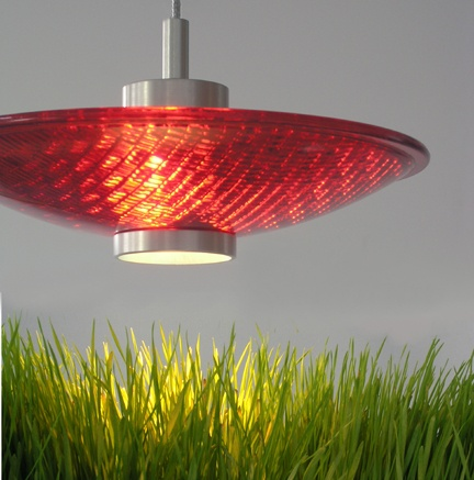 Greenlight Concepts: Ruby Red Stoplight Pendant Lamp Made From Recycled  Traffic Light Lens.