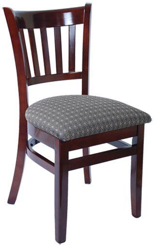 Vertical slat wood restaurant chair