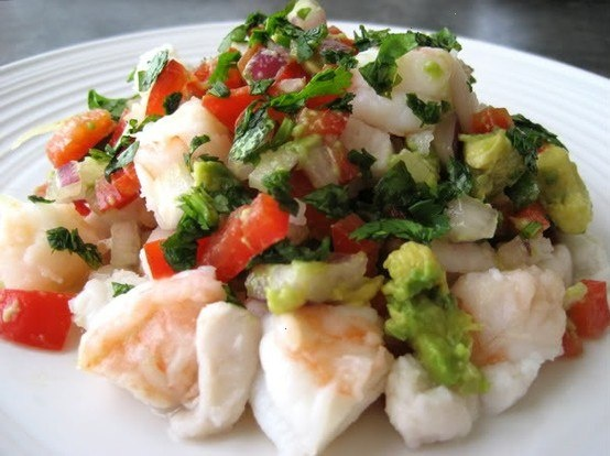 Halibut, snapper and shrimp ceviche | Healthy Eating | Pinterest