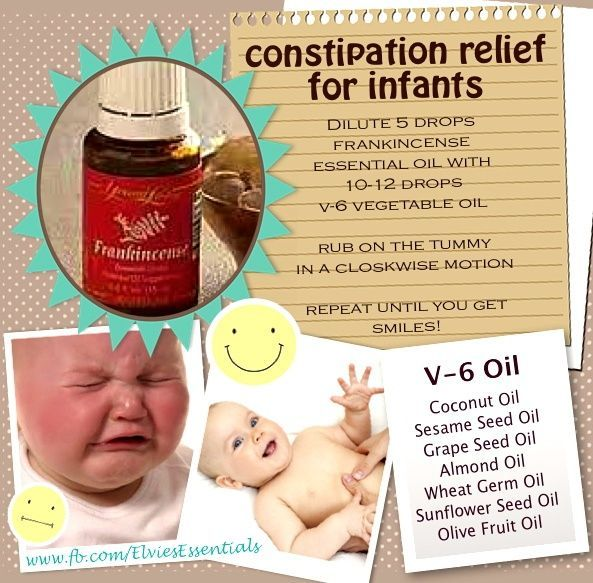 Constipation Relief for Infants Using Essential Oils #essentialoils