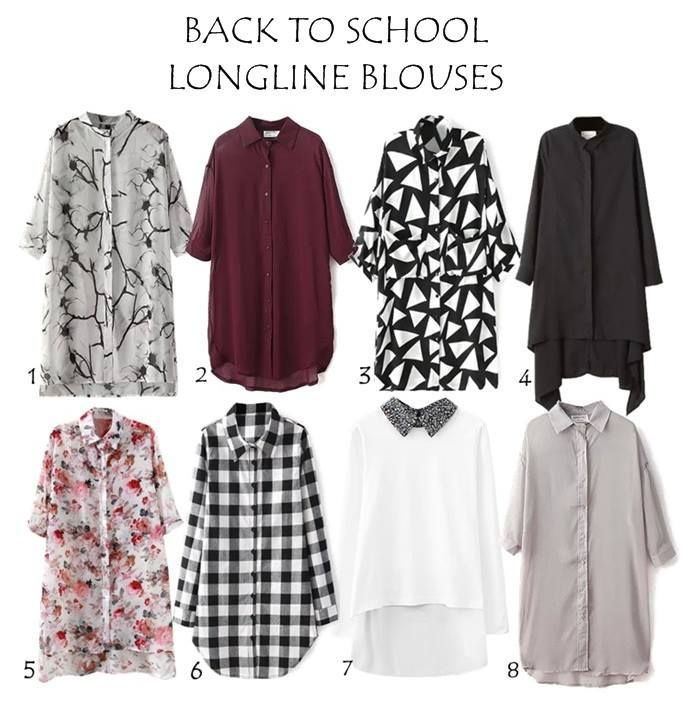 "This is a beautiul and affordable range of longline modest blouses you can welcome ""back to school season"" with, they comes in diferent colors, patterns and sizes along with a worldwide shipping. Below are listed the stores of each blouse.…"