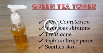 Homemade Green Tea Toner | How To Make Toner Easily At Home | Summer Skin Care |