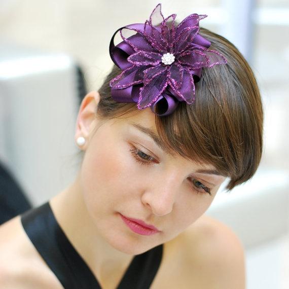 sparkling dark violet hair piece by samodiva on Etsy, $30.00