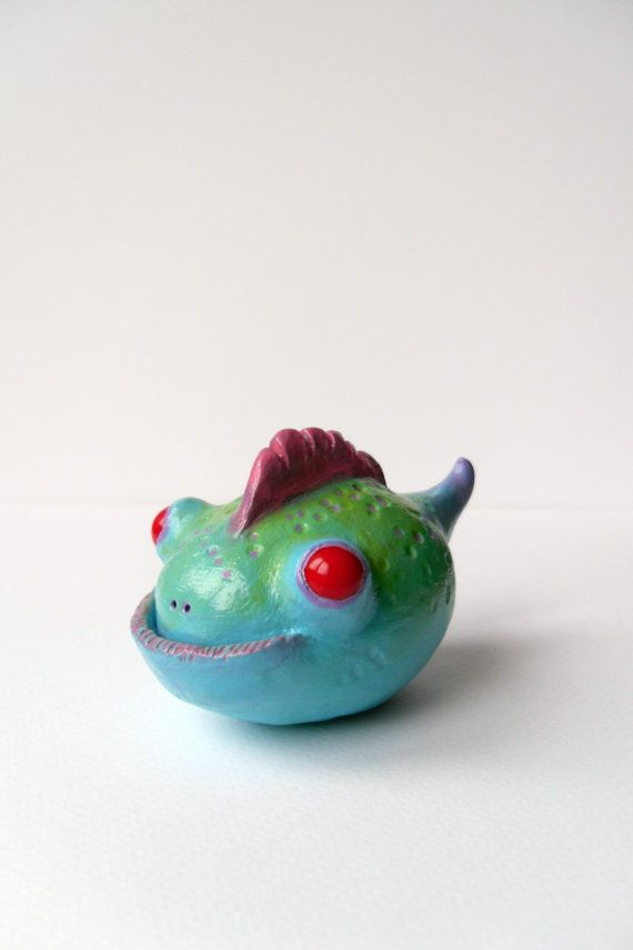 Polymer Clay Monster Figurine  Clay Monster by ErinlesHouse