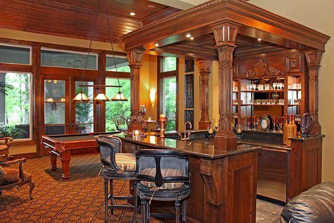 Billiards room & bar. Savenay House Plan.