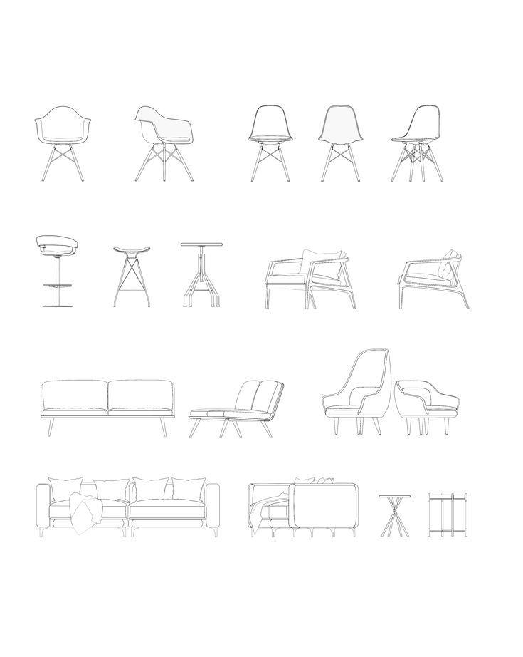 Modern Furniture Dwg #mobel #modern,