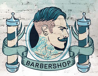Vintage Barbershop Branding Kit on Behance Original Pinterest ...