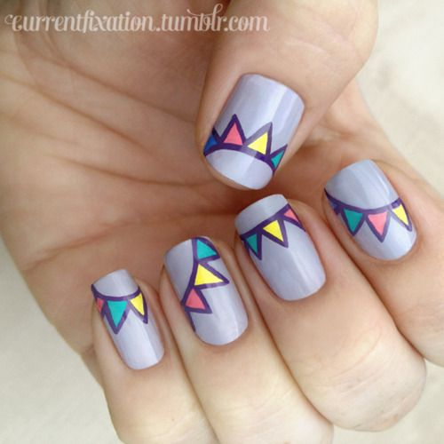 Bunting nails! (Inspired by DaaaangGirl)