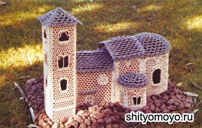 Precious findings: Crochet castle house with all diagrams needed ♥♥♥♥♥