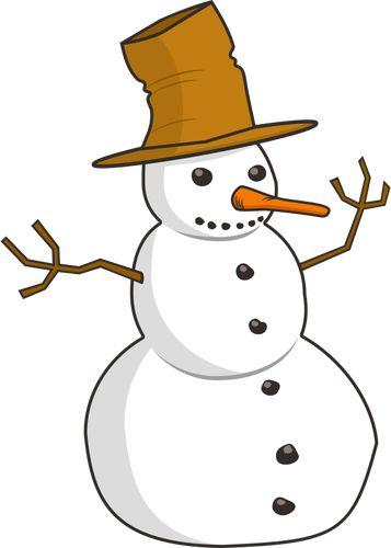 Graphiques vectoriels de bonhomme de neige