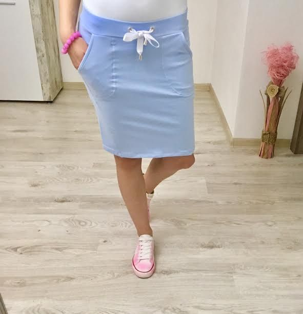 Tepláková sukňa babyblue