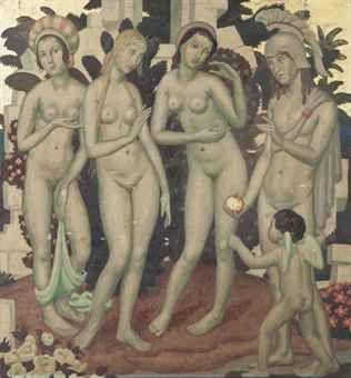 Ernest Procter (1886-1935) 'The Judgement of Paris', ca.1926