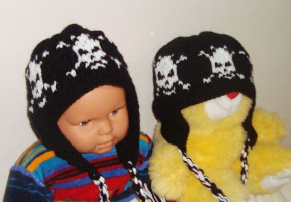 Little Brother Hats  Sibling Hat set of 2 hats  by earflaphats